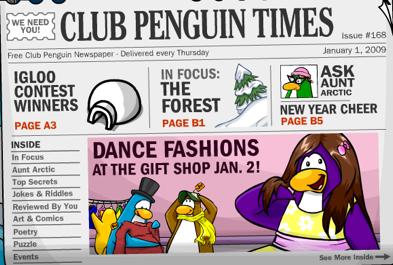 Clubpenguin newspaper
