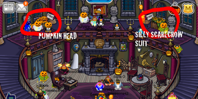 Inside Haunted House in Club Penguin